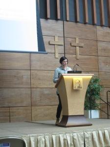 Tiina preaches seagrass