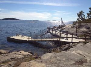 Här börjar snorkelleden på Björnö
