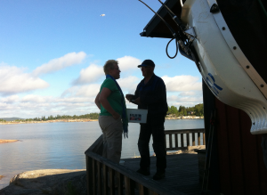 Ellen o Ove i samspråk om fiskfångsten