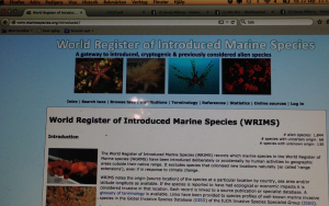 5 Word Register of Introduced Marine Species