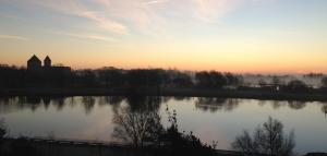 morgon från hotell fönstret