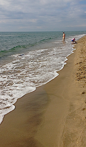 strand o vågor