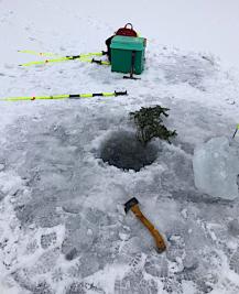 Nysnö på isen 20190303
