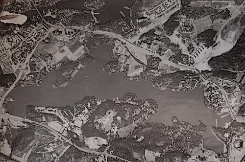 2 Brunnsviken flygfoto1960-tal