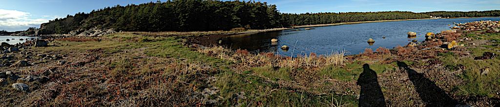 1 Panorama över vikar på Saltö